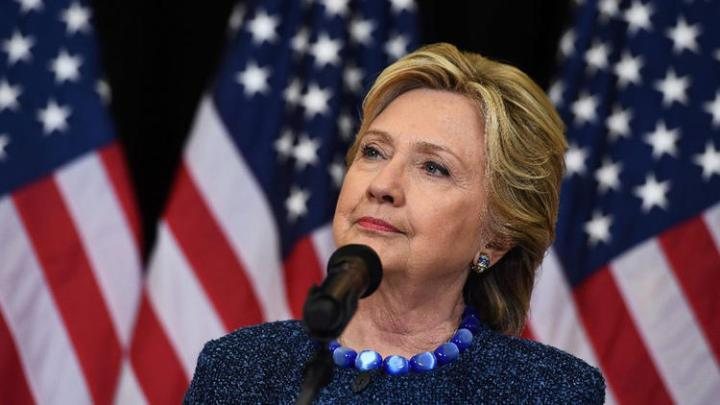 Hillary Clinton answers questions about the FBI reopening a probe into her use of a private email server on Oct. 28, 2016. (Jewel Samad / Getty-AFP)